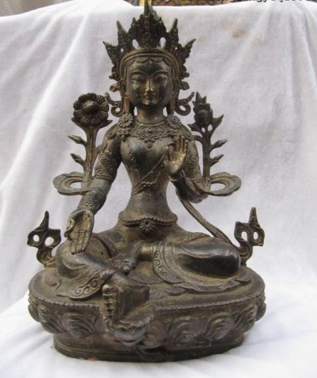 tibetan old Hevajra bronze antique mahakala statue copper