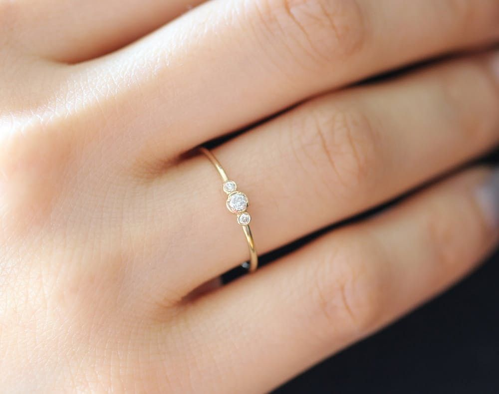 15 beautiful budget friendly alternative engagement rings - Alternative Wedding Rings