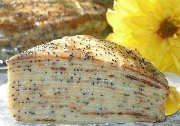 Блинный торт  Маковка  с заварным кремом / Speleologov.Net - мир кейвинга