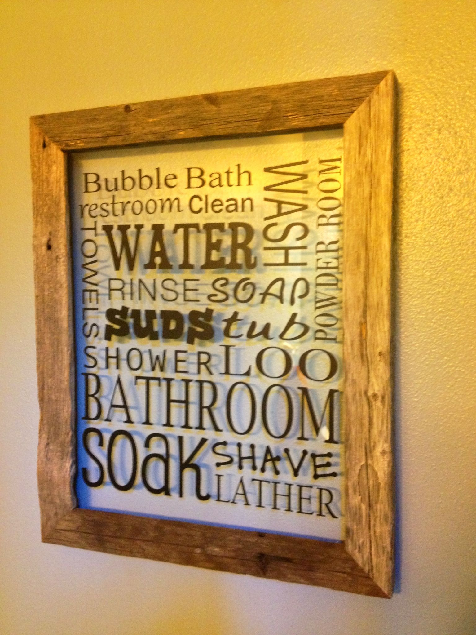 Could make a fun Bathroom Art on canvas, have kids paint over it and ...