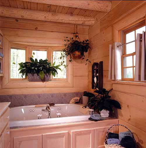 This log home plan is listed on Architectural Designs