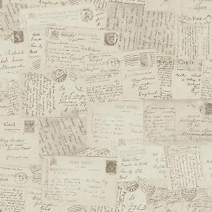 Carta da parati cartoline beige 10 m for the home for Offerte carta da parati