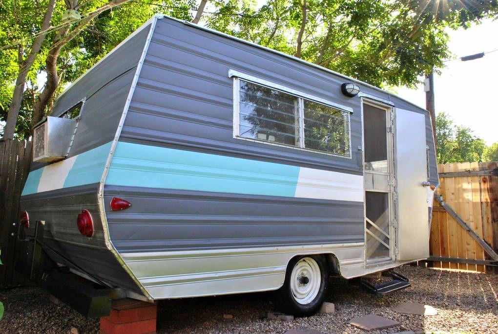 Downtown Vintage Camper Living Campers Rvs For Rent In Denver Vintage Camper Camper Living Airbnb Rentals
