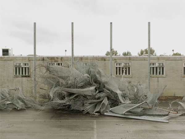 Donovan Wylie, Fence. Deconstruction of Maze Prison. Maze Prison. Northern Ireland, 2009, from the series The Maze. Courtesy of the artist
