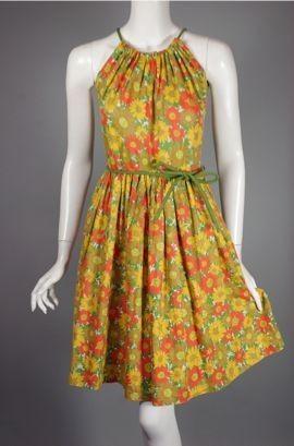 /site/largepics/703/142101/471216/651619/DR915-orange_green_floral_cotton_1950s_halter_sund