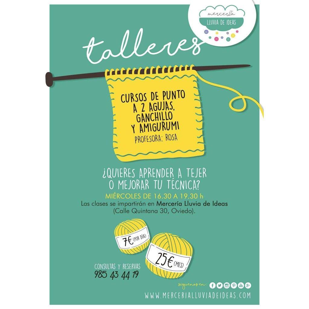 Este Miércoles 24 Comenzamos Cursos De Punto Te Animas Novedades Cursosdepunto Tricot Knit Knitting Amigurumi Ganchill Cursillo Amigurumi Ganchillo