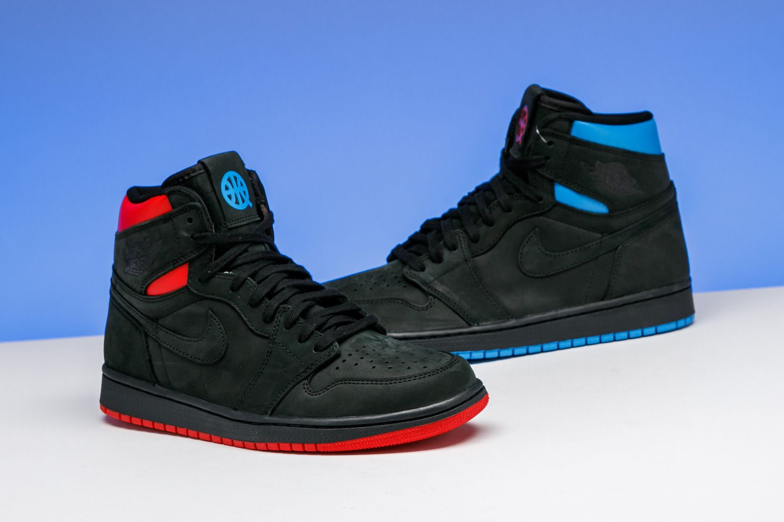 b7aa9b423002 The French national flag inspired this celebratory Quai 54 edition Air  Jordan 1 High Retro.