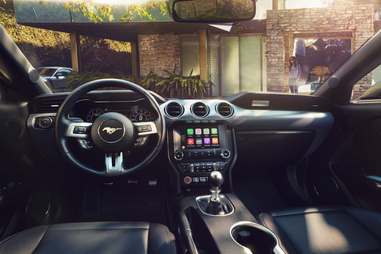 Inside the mustang has some styling changes focused mainly on materials choices and comfort options