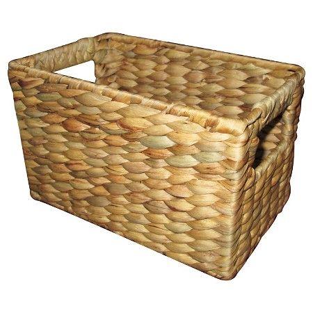 Toilet Tank Bath Basket Hyacinth Threshold Target Basket Cord Organization Toilet Tank