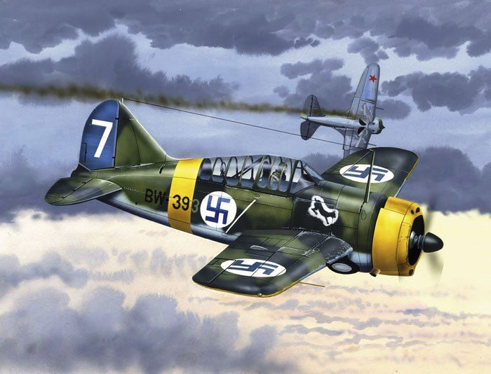Brewster F2a Buffalo Aircraft Military Props Ww2