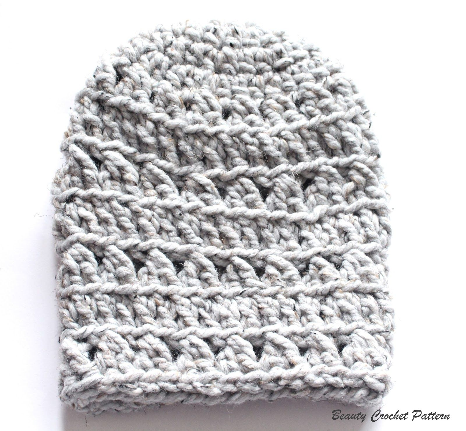 Beauty Crochet Pattern: Crochet Chunky Slouchy Hat Free Pattern ...