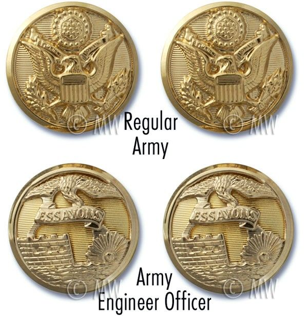 Army Service Uniform and Mess Uniform Buttons                                                                                                                                                     More