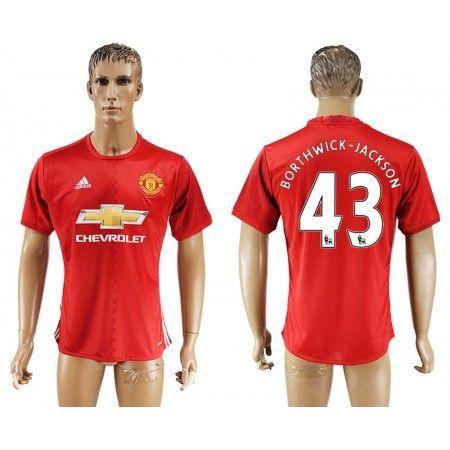 Manchester United 16-17 Cameron #Borthwick-Jackson 43 Hjemmebanesæt Kort ærmer,208,58KR,shirtshopservice@gmail.com