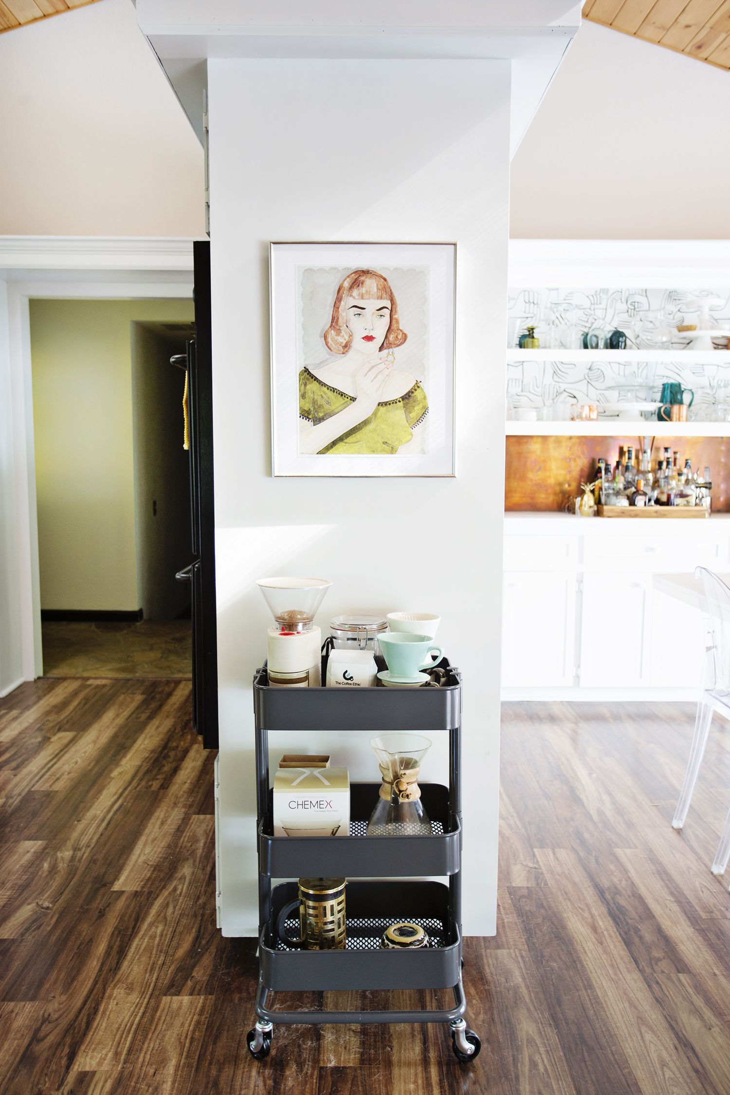Coffee cart // Emma\'s Kitchen - A Beautiful Mess | You Go That Way ...