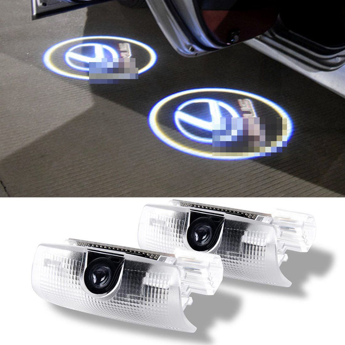 Karono 2pcs Car Door Led Logo Projector Welcome Courtesy Ghost