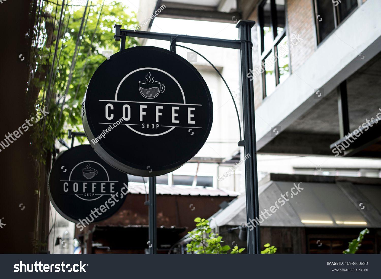 Black Sign Outside A Restaurant Mockup Sign Black Mockup Restaurant Coffee Shop Signs Cafe Signage Coffee Signage