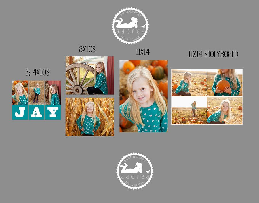 Tri-Cities, WA photographer 5th birthday country mercantile adored by meghan rickard photography wall display