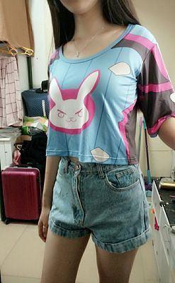 Overwatch D.Va Girls Lounge Shorts