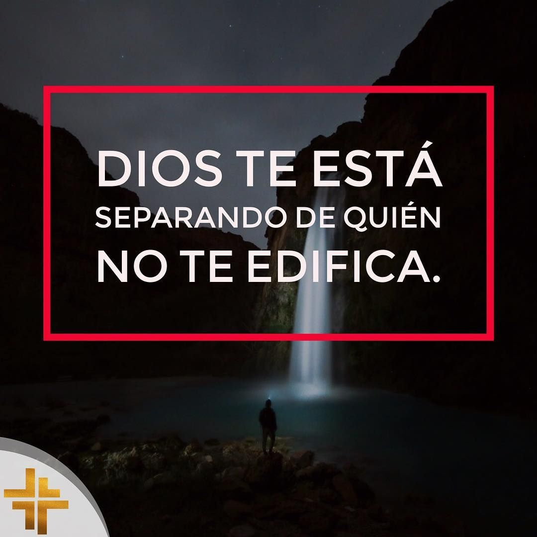 Dios te está separando de quién no te edifica, pues el sabe lo que es mejor para ti. #cristoteama #god #buenastardes #cristo #cristtoteama @cristtoteama