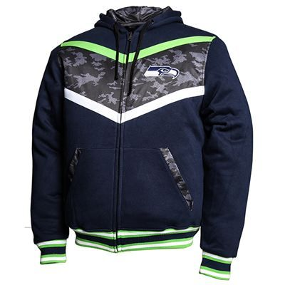 brand new 55c51 8c1a4 Seattle Seahawks NFL Black Ops Reversible Hooded Jacket ...