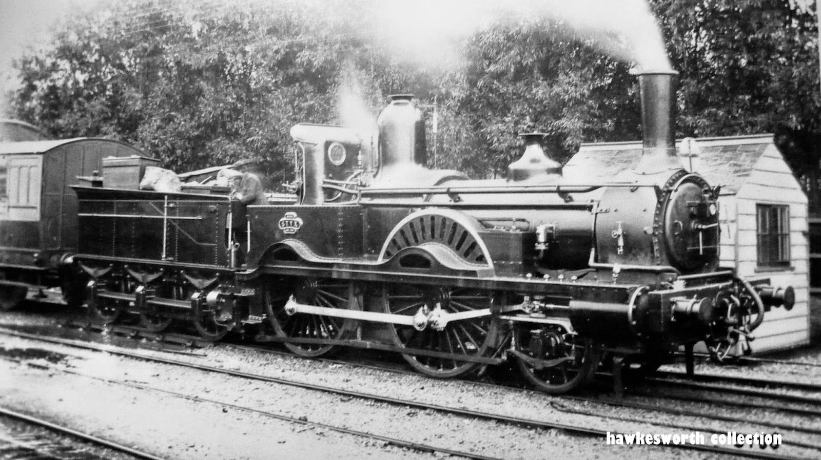 Rothwell Single 2-2-2  084  Styx 1847/8 with Adams name board