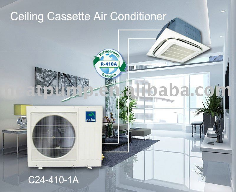 Ceiling Cassette Air Conditionerhigh Efficgh Efficiency With R410arefrigerantbrand Compress Floor Air Conditioner House Air Conditioner Air Conditioning Repair
