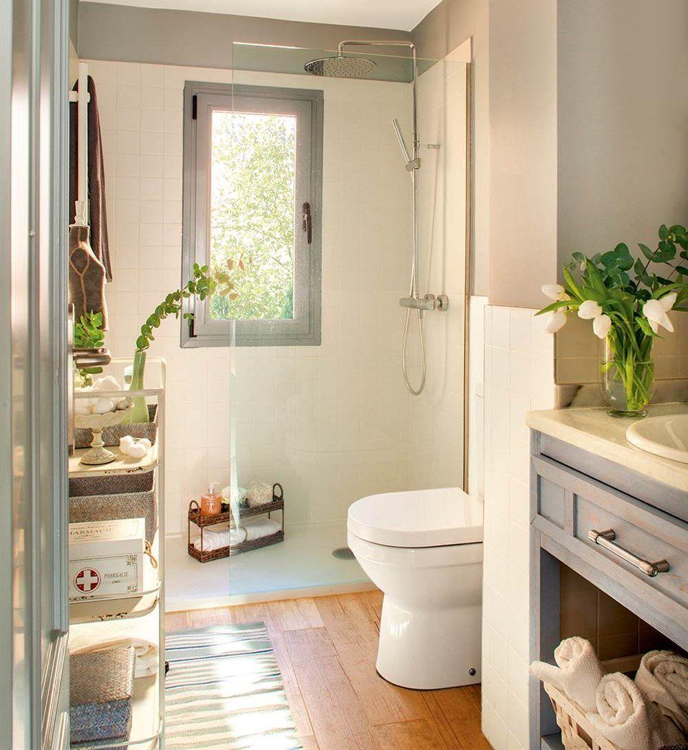 la zona de tocador bath small bathroom and house ForBanos Pequenos Bien Aprovechados