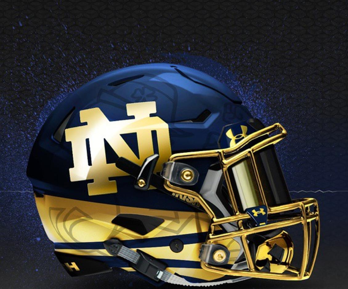 Jim Small S Notre Dame Go Irish Blog Www Ndgoirish Com A Notre Dame Blog Notre Dame Helmet Football Helmets Football Helmet Design Nfl Football Helmets