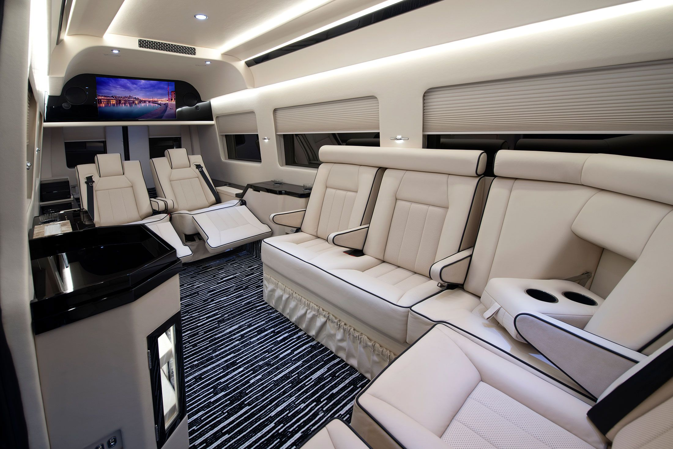 these insane pimped out vans for ceos redefine commuting bloomberg business vans and cars. Black Bedroom Furniture Sets. Home Design Ideas