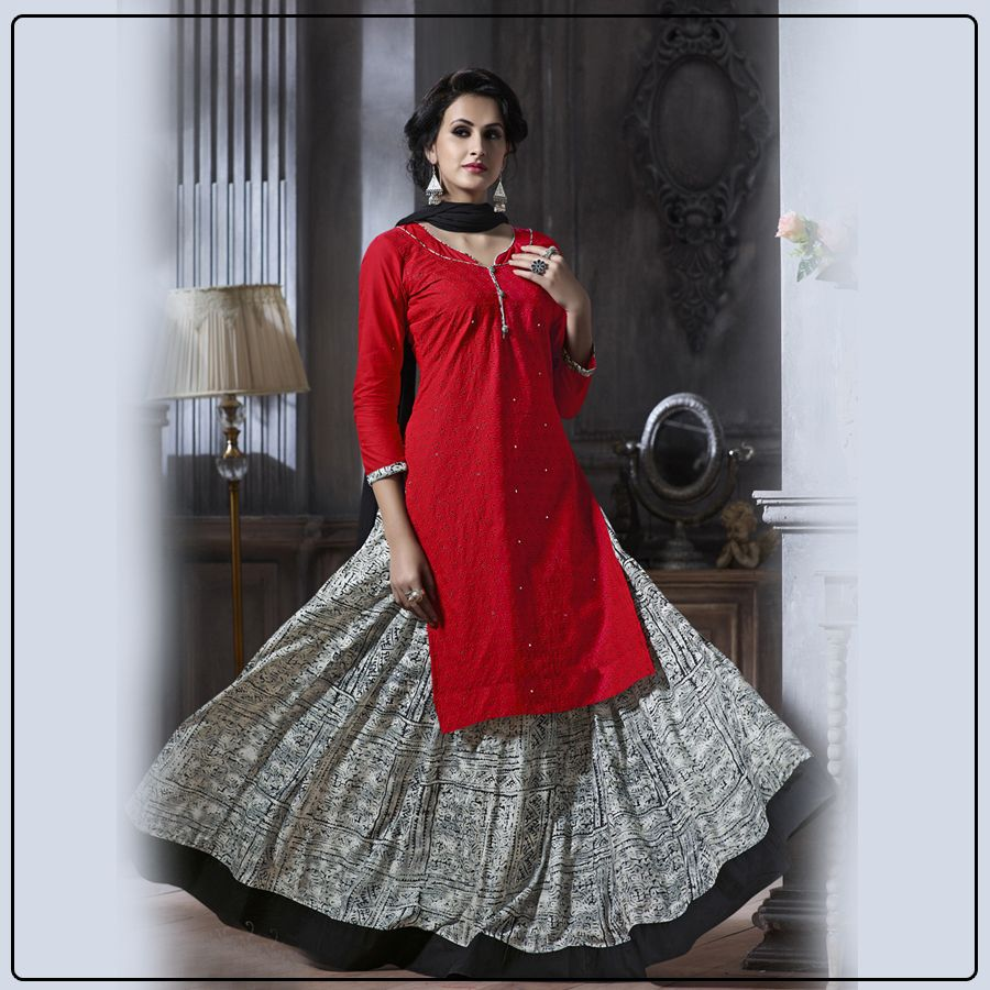 Step up indo western magic with these beautiful top and dupatta from