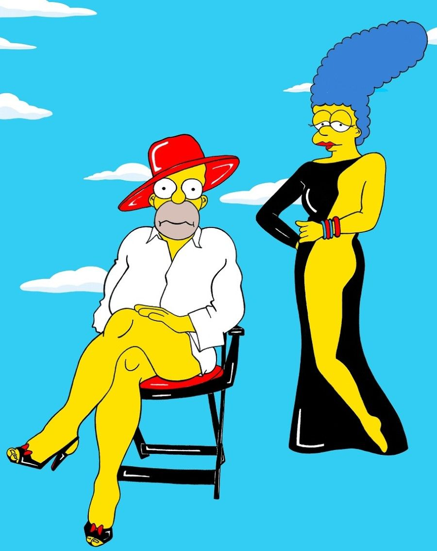 Marge and homer naked