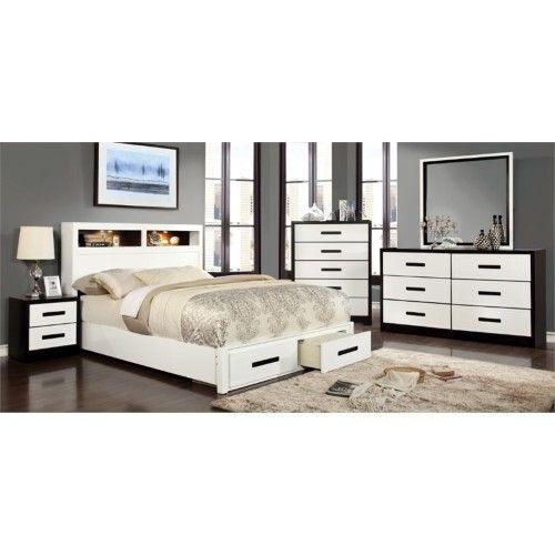 Furniture of America Dimartino 4 Piece California King Bedroom Set