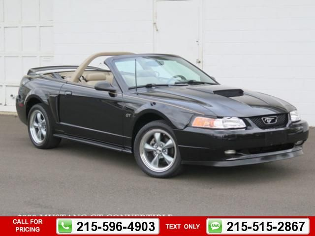 2000 ford mustang 2dr convertible gt black $11,900 46749 miles 215