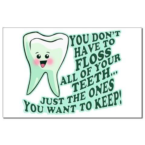 Funny Dentist Quote Mini Poster Print | Funny dental