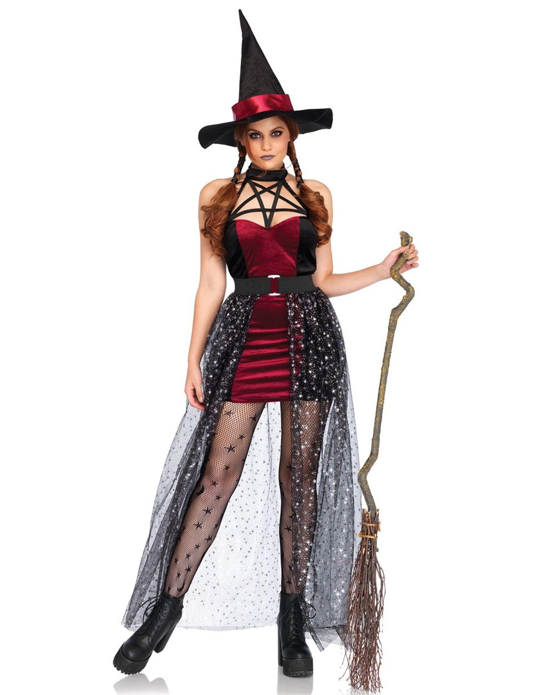 WOW Streghe Abito Donna Vestito Medioevo Vestito Abito Donna Strega Carnevale Carnevale