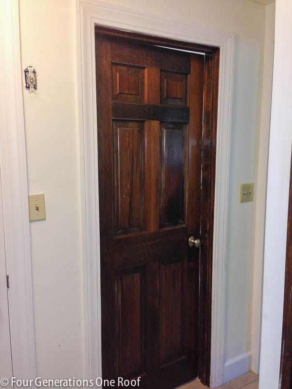 How To Paint Dark Stained Doors Before Amp After Paint
