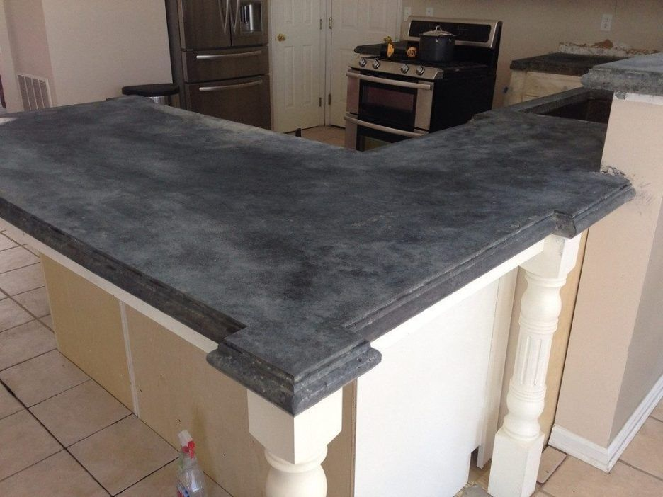 Cozy Ideas Countertop Solutions Featuring Gray Color Concrete