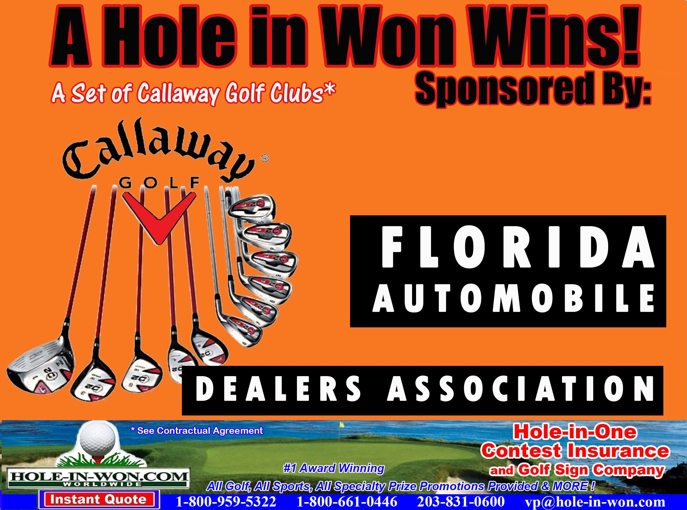 Auto Dealer Association Hole In One Program Promotions Hole In One