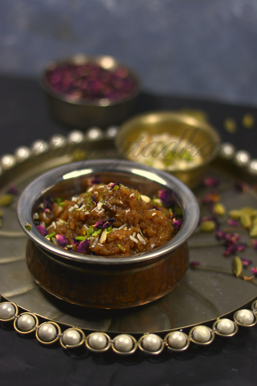aate ka halwa wheat flour pudding recipe simply tadka recipe pudding recipes indian on hebbar s kitchen halwa id=55496