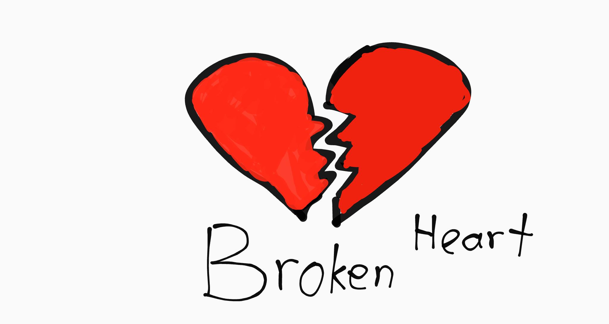 Broken Heart In 2020 Broken Heart Drawings Enamel Pins