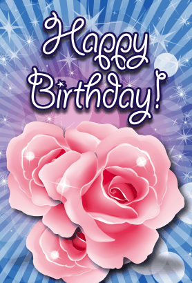 This Birthday Card Features Roses And Will Print On Standard 8 5x11 Paper Which Is Then Folde Happy Birthday Wallpaper Birthday Card Printable Birthday Cards