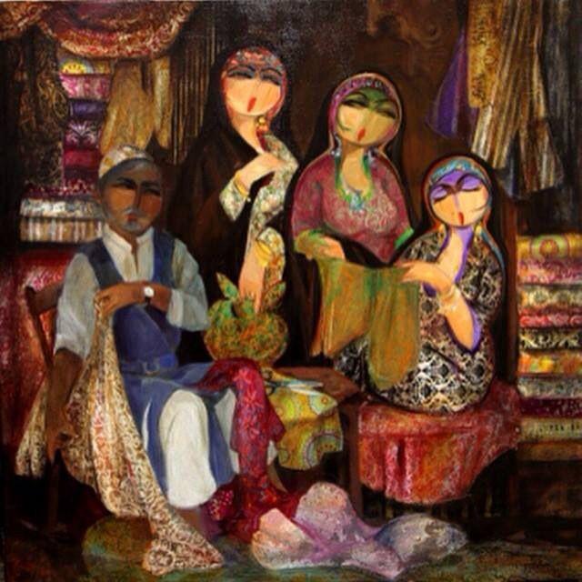 إحدى روائع شاكر الالوسي Egyptian Painting