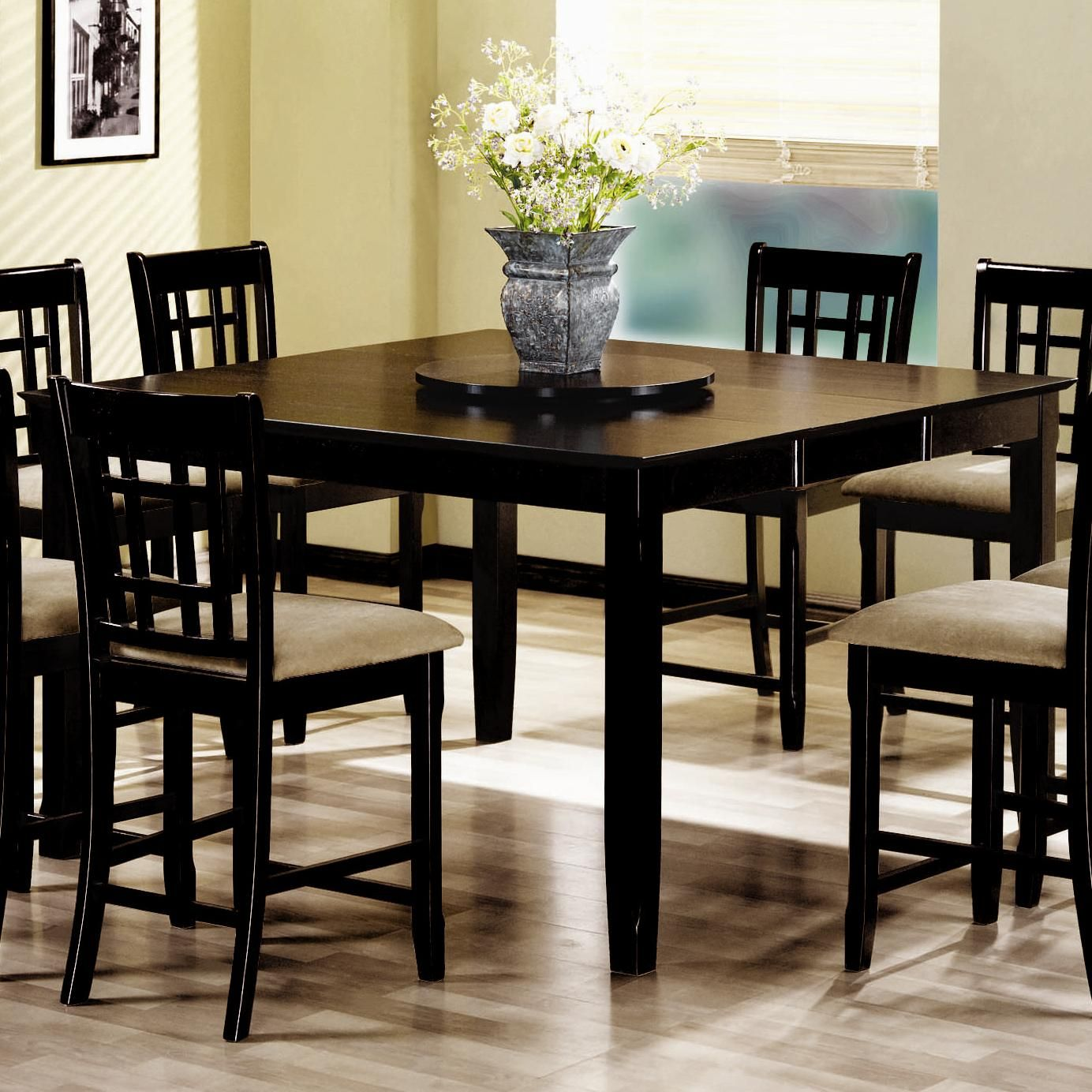 101898n Geneva Gathering Height Dining Table With 18 Extension