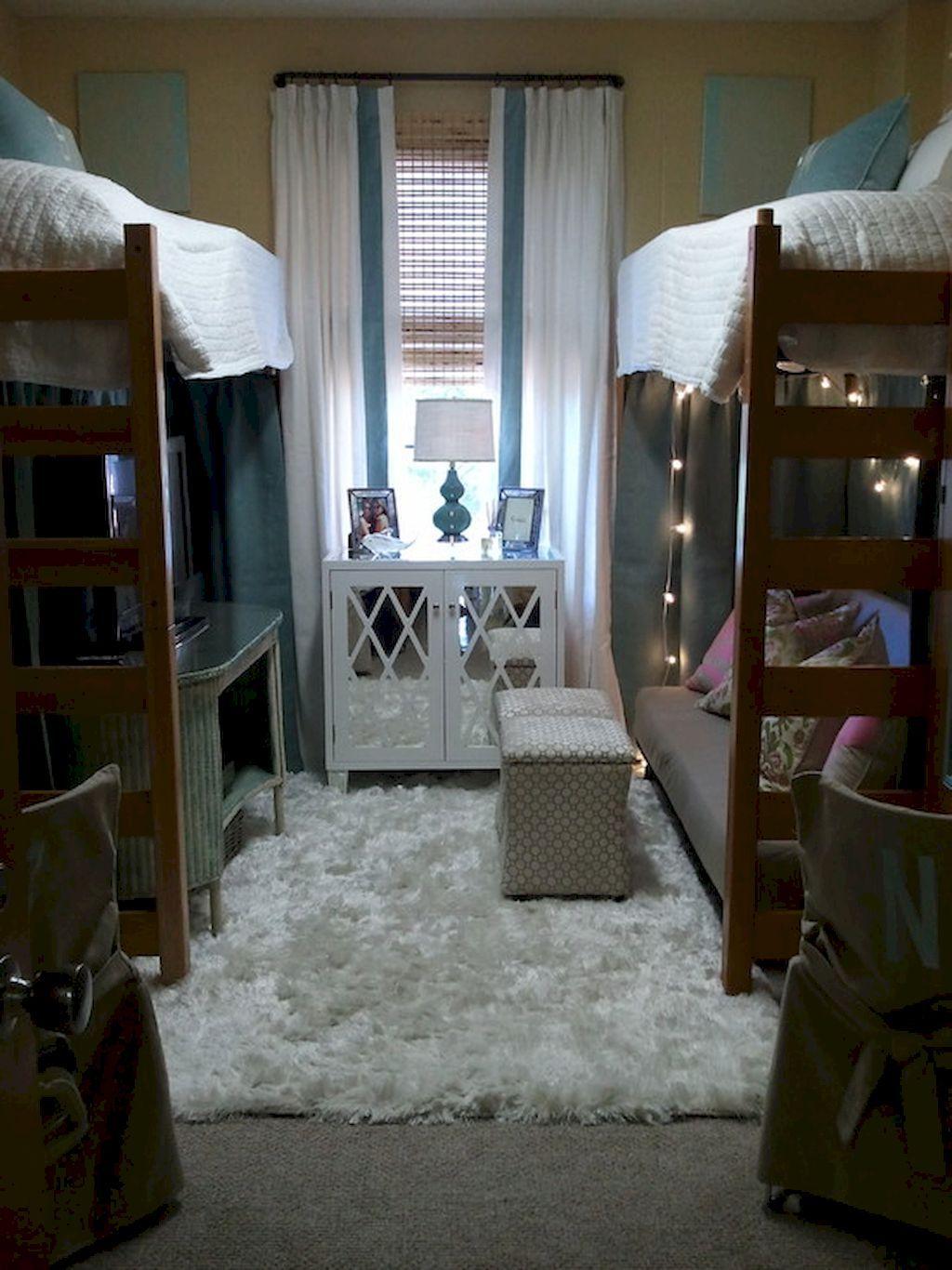 Loft bed ideas for dorm room   Cute Loft Beds College Dorm Room Design Ideas For Girl  Dorm