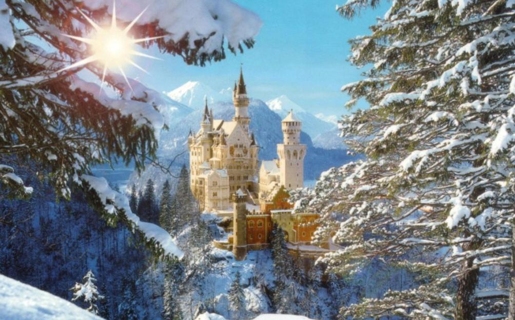 Schloss Neuschwanstein Im Winter Bavaria Germany Breathtaking Places Neuschwanstein Castle Beautiful Places In The World