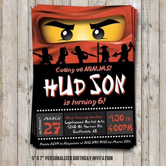 Ninjago birthday invitation personalized for your party digital ninjago birthday invitation personalized for your party digital printable diy ninjago inspired ninja birthday invitation stopboris Image collections