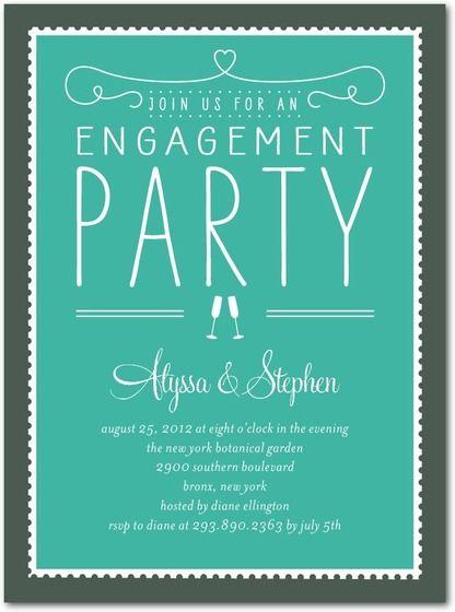new engagement party invitations wedding stationery wednesday