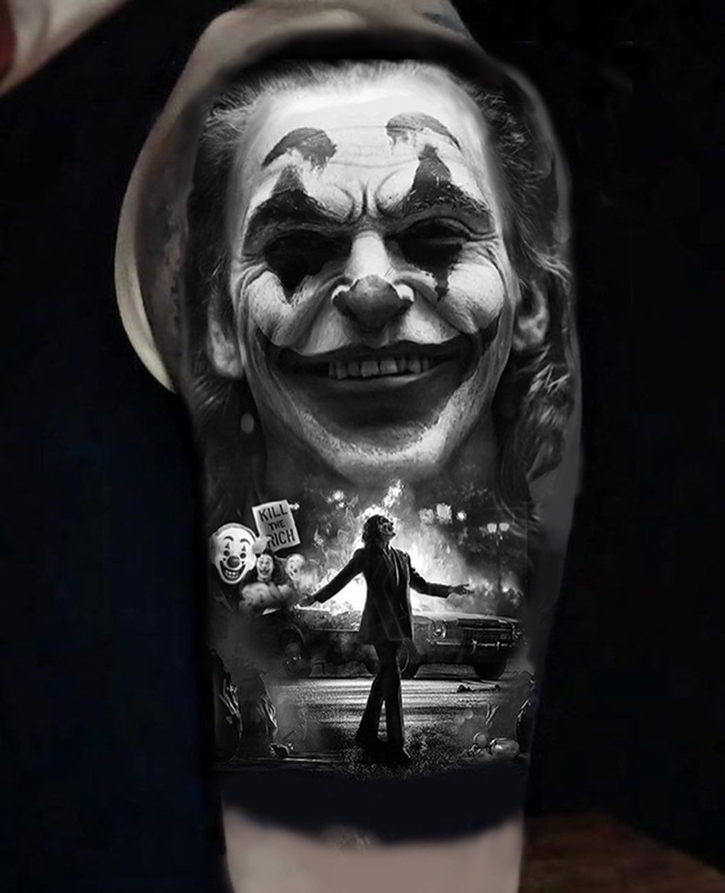 Got A Healed Photo Of A Joker Hand Piece I Did Couple Weeks Ago Joker Jokersmile Joker Smile Hand Tattoo Joker Tattoo Joker Smile Tattoo