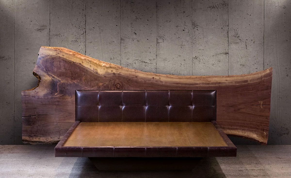 Platform Beds with Live Edge Headboard in 2020 Live edge