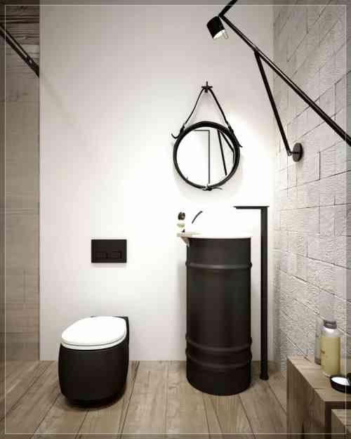 décoration de toilette wc de style industriel | Bricolage ...